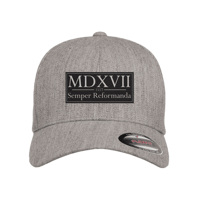 Semper Reformanda - 1517 Roman Numerals Patch Fitted Hat