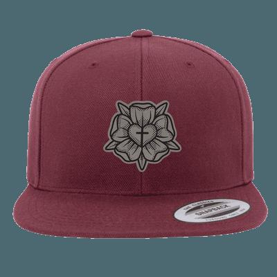 Lutheran Rose Patch Snapback Hat