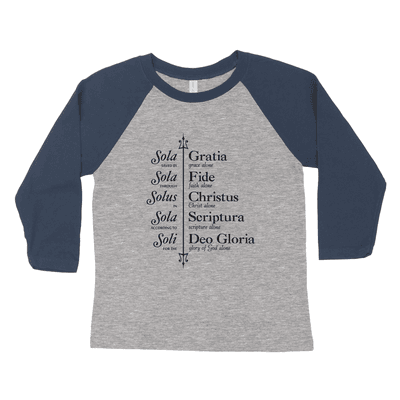 The Five Solas (Trident) Youth Raglan Tee