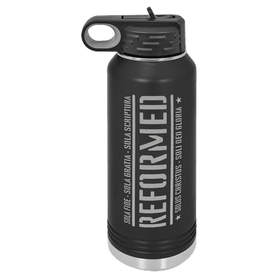 Reformed With The Five Solas 32oz Insulated Water Bottle