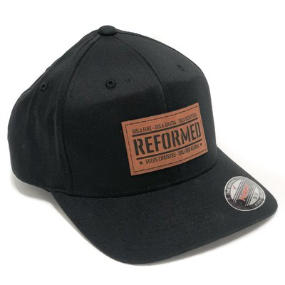 Reformed with the Five Solas Patch Fitted Hat