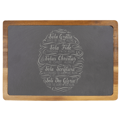 Five Solas Hand Lettered Slate Cutting Board