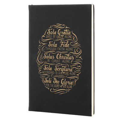 Five Solas Hand Lettered Leatherette Hardcover Journal