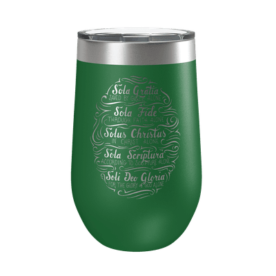 Five Solas Hand Lettered 16oz Insulated Tumbler