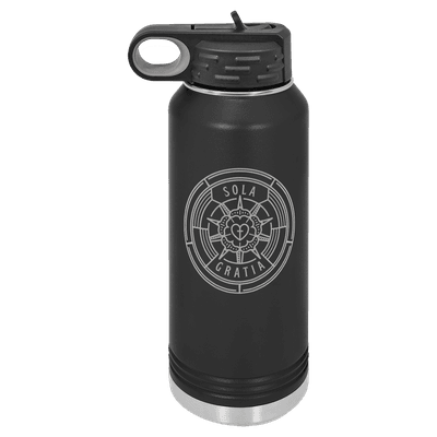 Sola Gratia Badge 32oz Insulated Water Bottle