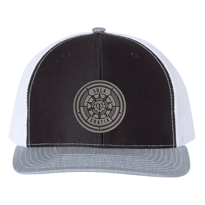 Sola Gratia Badge Trucker Hat