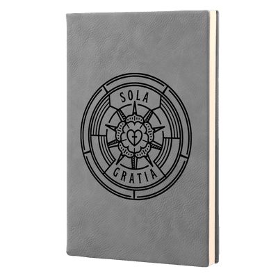 Sola Gratia Badge Leatherette Hardcover Journal