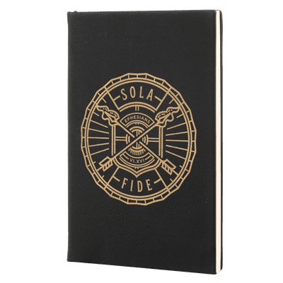 Sola Fide Badge Leatherette Hardcover Journal