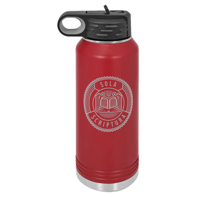 Sola Scriptura Badge 32oz Insulated Water Bottle