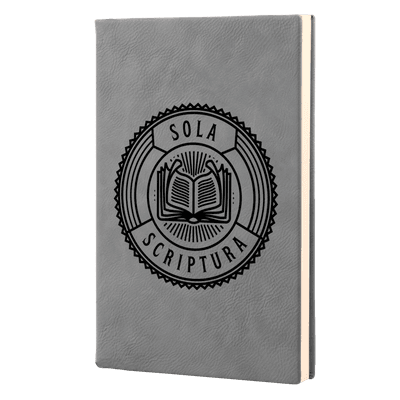 Sola Scriptura Badge Leatherette Hardcover Journal