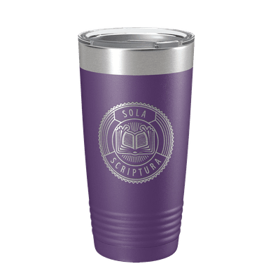 Sola Scriptura Badge 20oz Insulated Tumbler