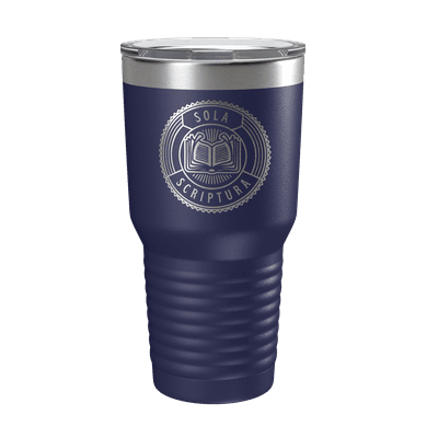 Sola Scriptura Badge 30oz Insulated Tumbler
