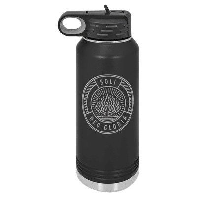Soli Deo Gloria Badge 32oz Insulated Water Bottle