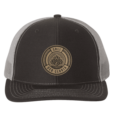 Soli Deo Gloria Badge Trucker Hat