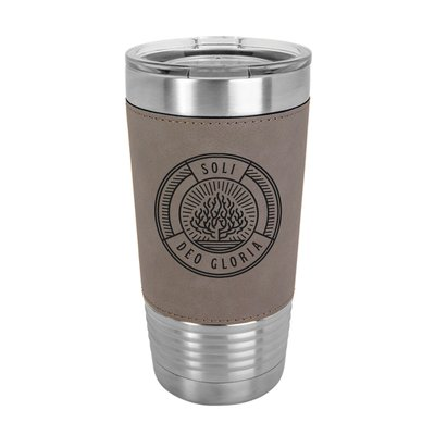 Soli Deo Gloria Badge 20oz Leather Tumbler