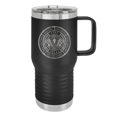 Five Solas Badge 20oz Insulated Travel Tumbler