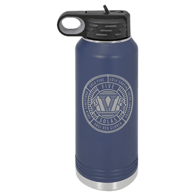 Five Solas Badge 32oz Insulated Water Bottle