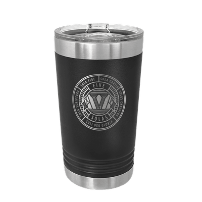 The Five Solas Badge Insulated Pint