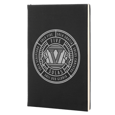 Five Solas Badge Leatherette Hardcover Journal