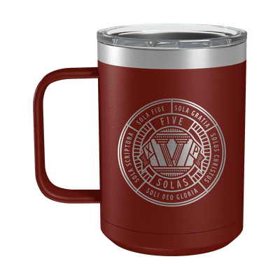 Five Solas Badge 15oz Insulated Camp Mug