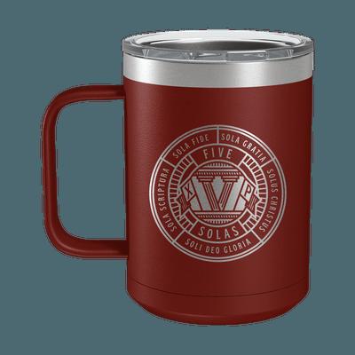 Five Solas Badge 15oz Insulated Camp Mug