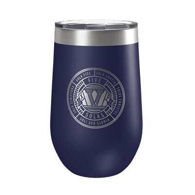 The Five Solas Badge 16oz Insulated Tumbler