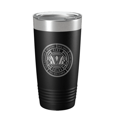 The Five Solas Badge 20oz Insulated Tumbler