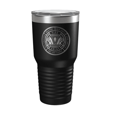 The Five Solas Badge 30 Ounce 30oz Insulated Tumbler