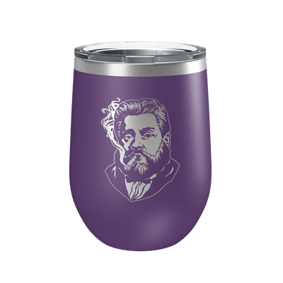 Charles Spurgeon Smoking a Cigar 12oz Insulated Tumbler