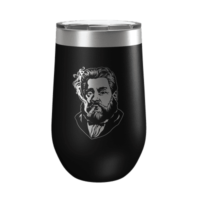 Charles Spurgeon Smoking a Cigar 16oz Insulated Tumbler