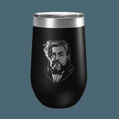Charles Spurgeon Smoking a Cigar 16oz Insulated Tumbler