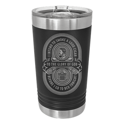 Charles Spurgeon Cigar Quote Insulated Pint