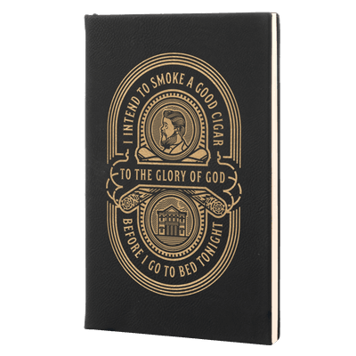 Charles Spurgeon Cigar Quote Leatherette Hardcover Journal