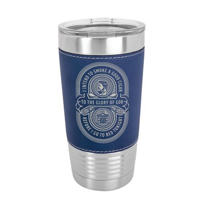 Charles Spurgeon Cigar Quote 20oz Leather Tumbler
