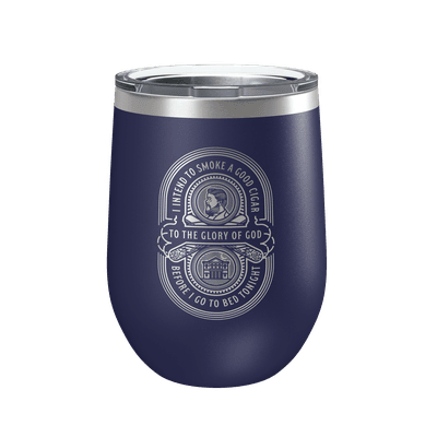 Charles Spurgeon Cigar Quote 12oz Insulated Tumbler