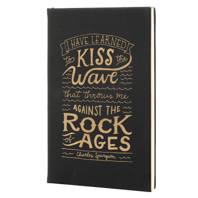 Rock Of Ages Leatherette Hardcover Journal