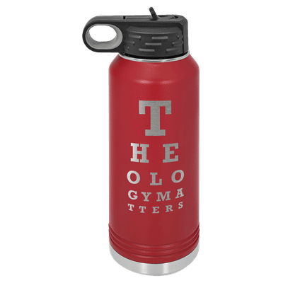 Theology Matters (Eye Chart) 32oz Insulated Water Bottle