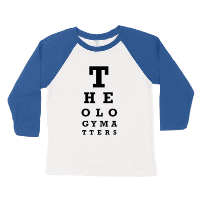 Theology Matters (Eye Chart) Youth Raglan Tee