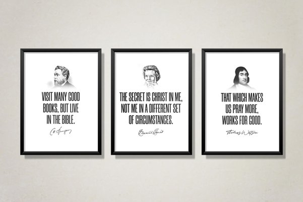 "Spurgeon, Watson, Elliot Bundle – 11"" x 14"" Poster Print"