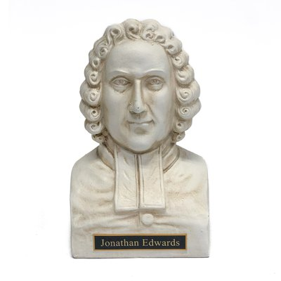 Jonathan Edwards Statue Bust - White