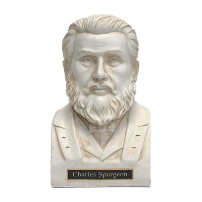 Charles Spurgeon Statue Bust - White