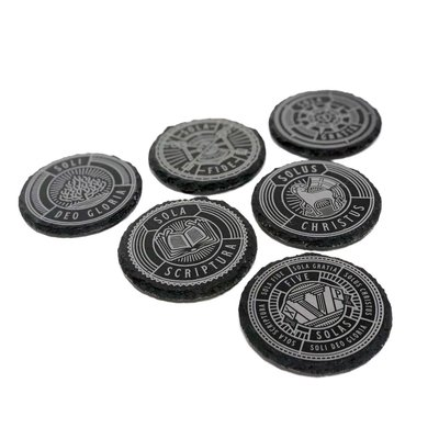 Five Solas Slate Coaster Set of 6
