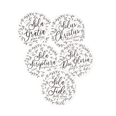 The Floral Five Solas Sticker Set