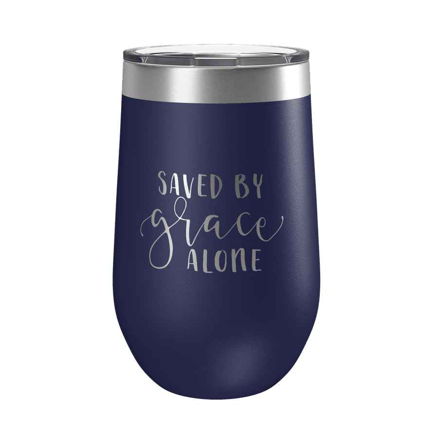 Saved By Grace Alone 16oz Insulated Tumbler