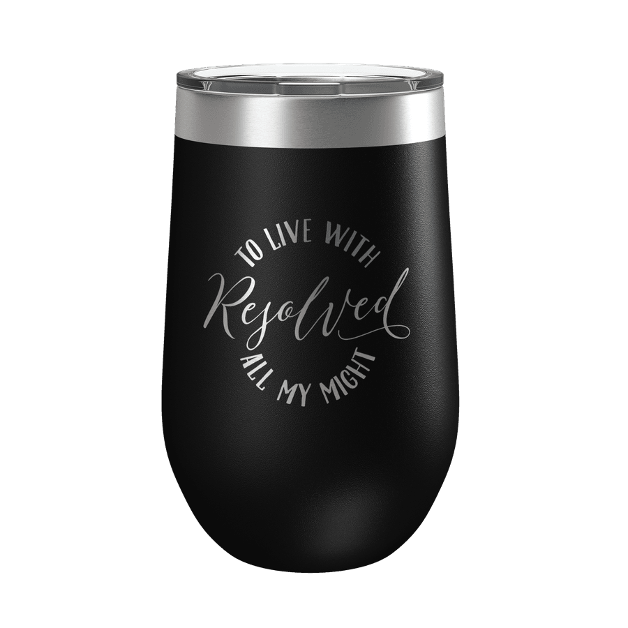 Resolved To Live 16oz Insulated Tumbler