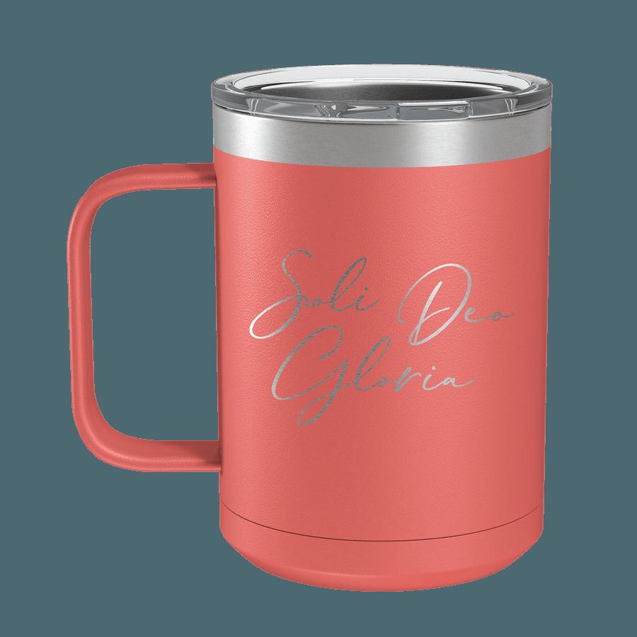 Soli Deo Gloria (Lettered) 15oz Insulated Camp Mug