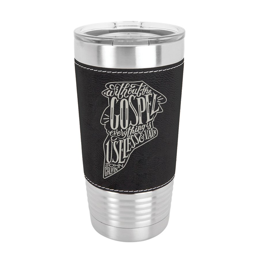 Without the Gospel 20oz Leather Tumbler