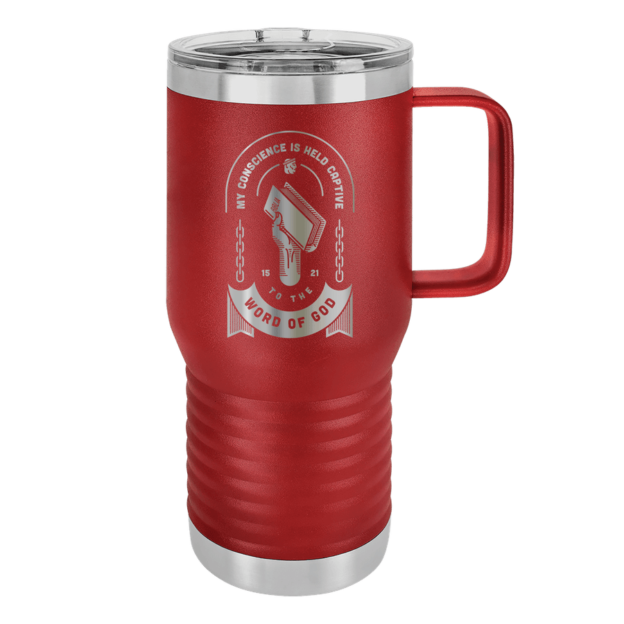 Held Captive to the Word of God 20oz Insulated Travel Tumbler