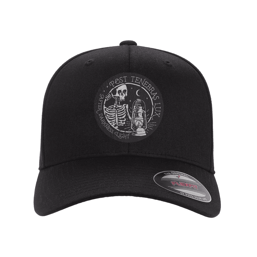 Post Tenebras Lux Fitted Hat