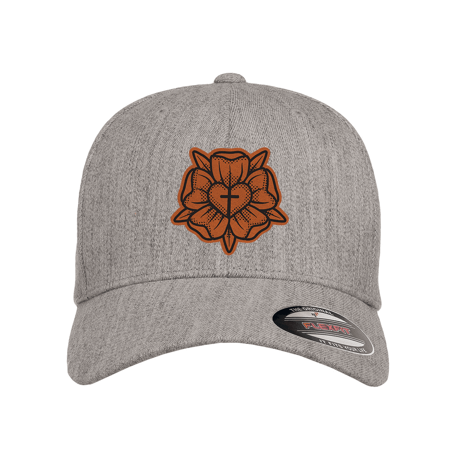 Lutheran Rose Patch Fitted Hat